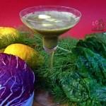 Succo di finocchio radicchio spinaci e limone