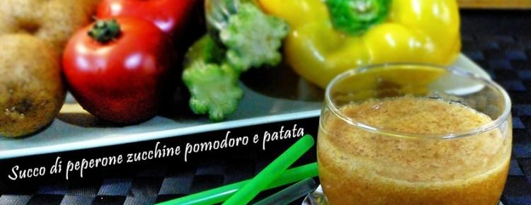 Succo di peperone zucchine pomodoro e patata