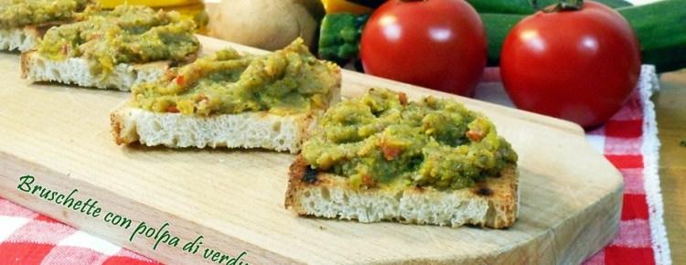 Bruschette con polpa di verdure
