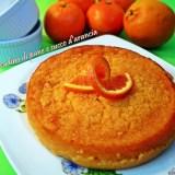 Budino di pane e succo di arancia