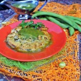 Frittata con fave su salsa di bucce di fave Video ricetta Teletruria