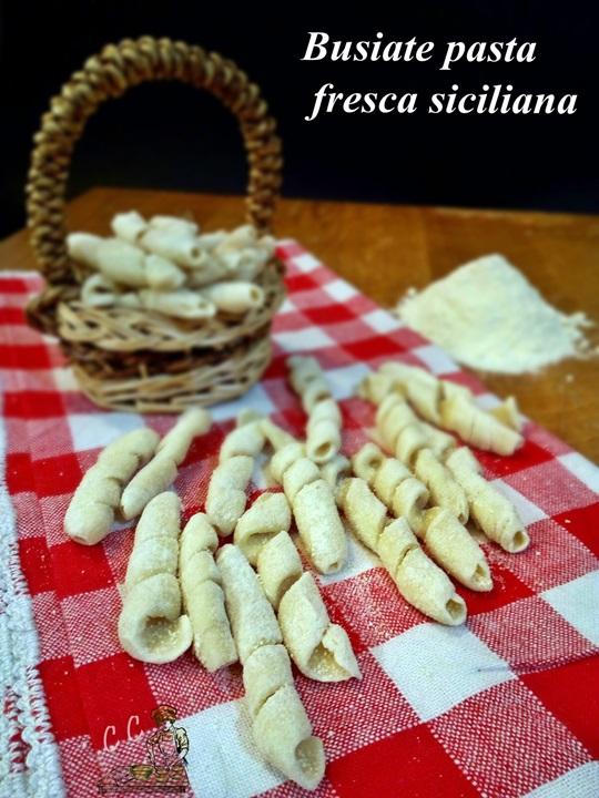 Busiate pasta fresca siciliana