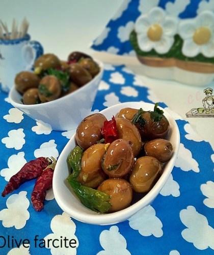 Olive farcite antipasto vegetariano vegano senza glutine