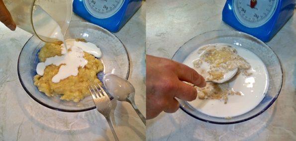 Torta con banana senza uova veloce da preparare