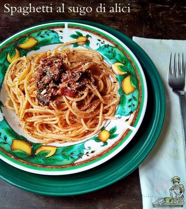 Spaghetti al sugo di alici