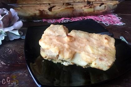 Tris di crepes con taleggio e besciamella di lenticchie