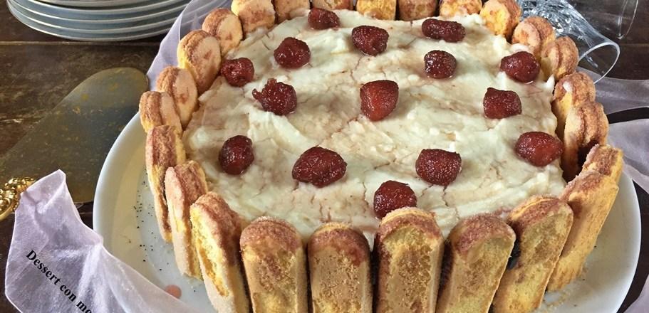 Dessert con mostarda di fragoline