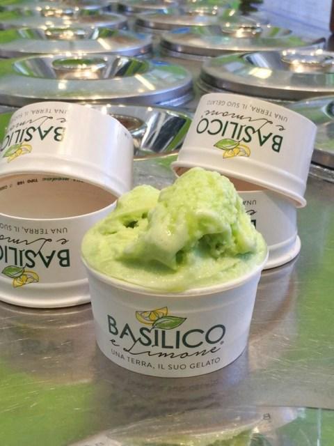 Miglior gelato artigianale a Levanto da Basilico e limone