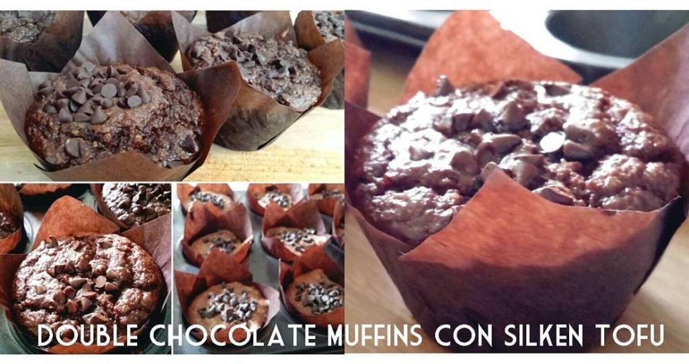 #muffin #double #chocolate #tofu #silkentofu #food #lightfood #lowfat #lowcarb #oatbran #quark #eggs #sweet #cake #patisserie