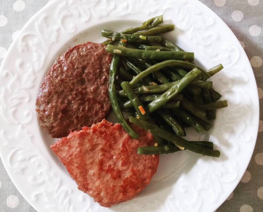 #dinner #food #lightfood #protein #vegetables #hamburger & #maxiburger #fagiolini #chef #lowfat #lowcarb #dukan #diet #dulight #Dulightstyle #quartafase