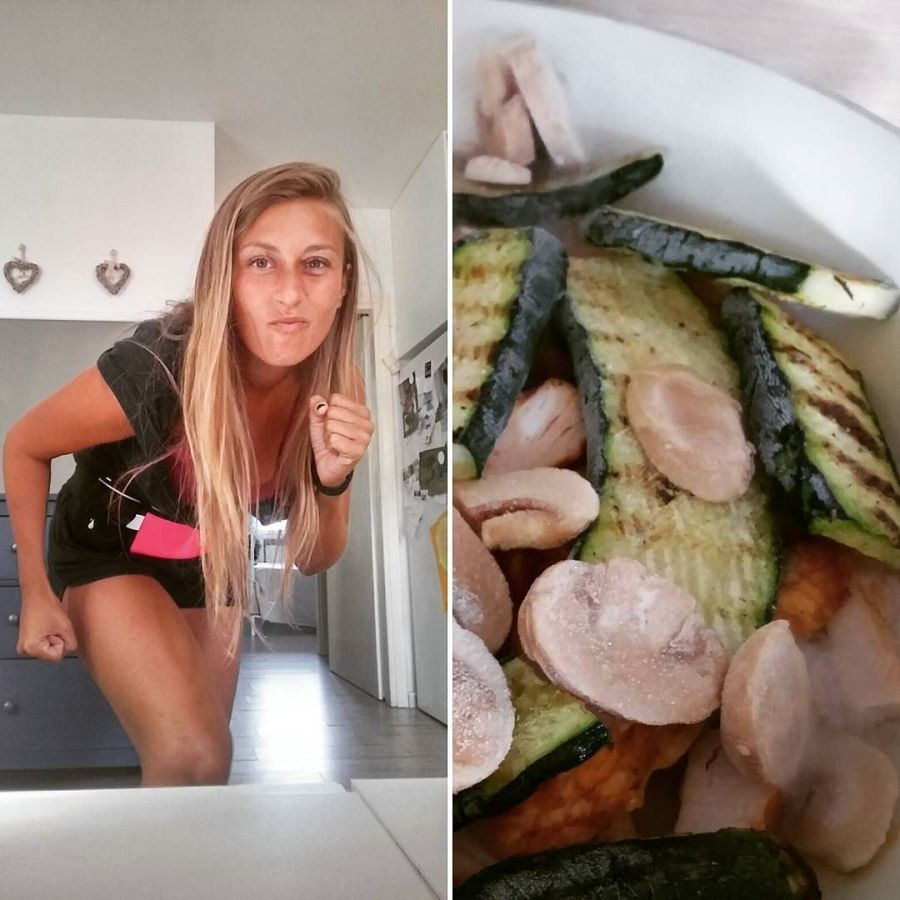 #sport #salute #run #running #food #lightfood #cucinadulight #chicken #mushrooms #zucchini #lunch #dukan #diet #dieta #weightloss #bodyrevolution #vividulight