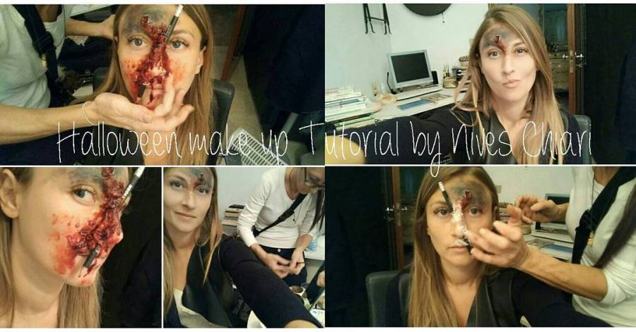 Video tutorial sul canale youtube di cucina dulight!!! #halloween #makeup #tutorial #trucco #galbanino #vinavil #scottex #makeupartist @nives_chiari_makeupartist #sangue #blood #zombie #splatter