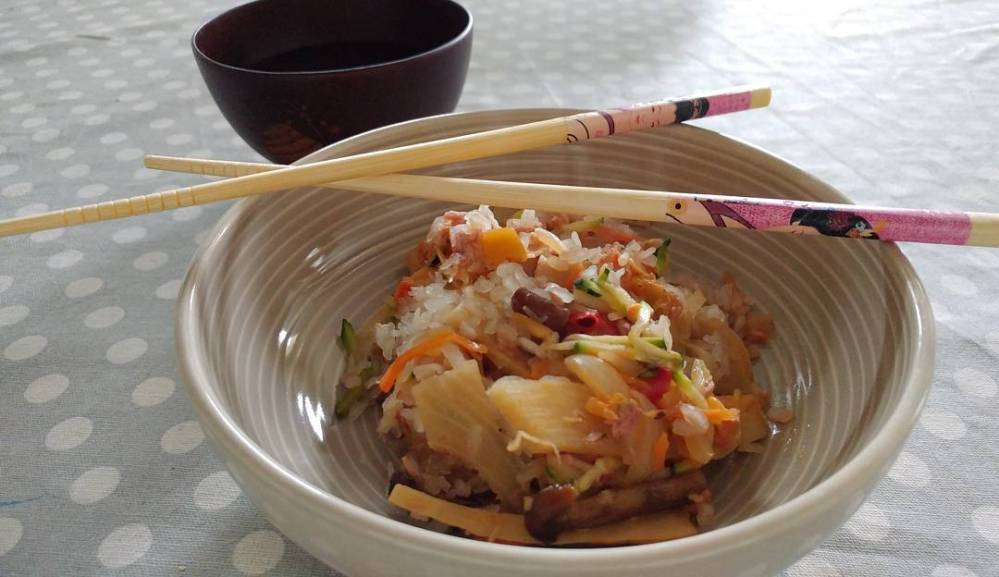 #lunch #japan #konjac #rise #bamboo #vegetables #dukan #diet #light #lightfood #lowfat #lowcarb #cucinaproteica #chef #cheflife #cucinadulight