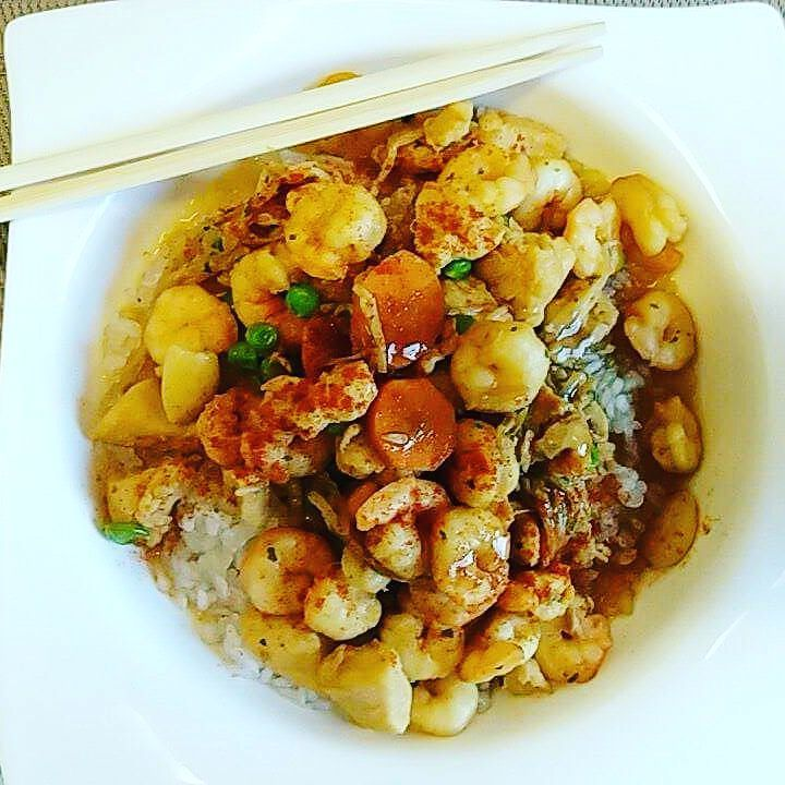 #dulight #cucinadulight #Dukan #dukandiet #konjac #rice #chicken #shrimps #asian #almonds #fusion # healthy # fitness #fitfood