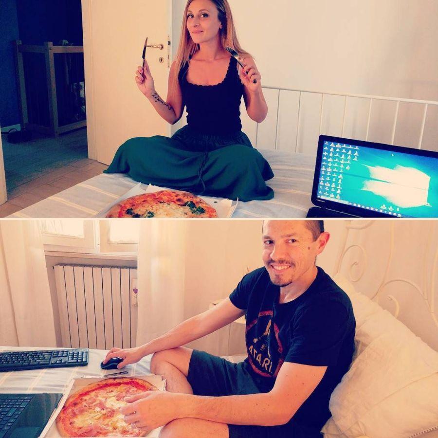 Ogni tanto una pizza ci sta! #cena #bed #pizza #dukan #diet #quartafase #spinaci #uova #grana #bracciodiferro #highprotein #chef #cheflife #cucinareindue #cucinadulight
