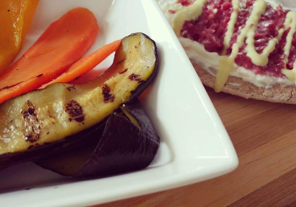 #lunch #lightfood #verdure #grigliata #tartare #philadelphia #active #senape #dukan #diet #dieta #quartafase #weightloss #highprotein #lowcarb #lowfat #fitness #fitfood #cucinaproteica #cucinadulight