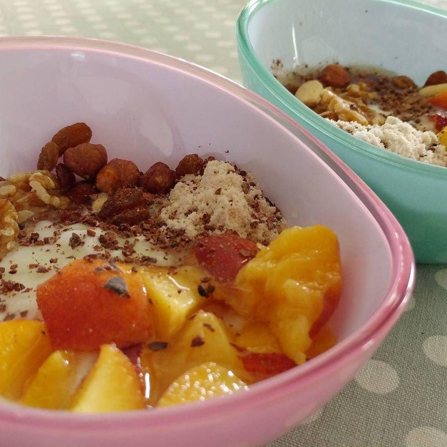 #breakfast #summer #ciotole nuove #lidl @lidlitalia #yogurt #pescanoce #fruttasecca #cocco #dukan #diet #quartafase #chef #cheflife#fitness #lightfood #cucinaproteica #cicinadulight