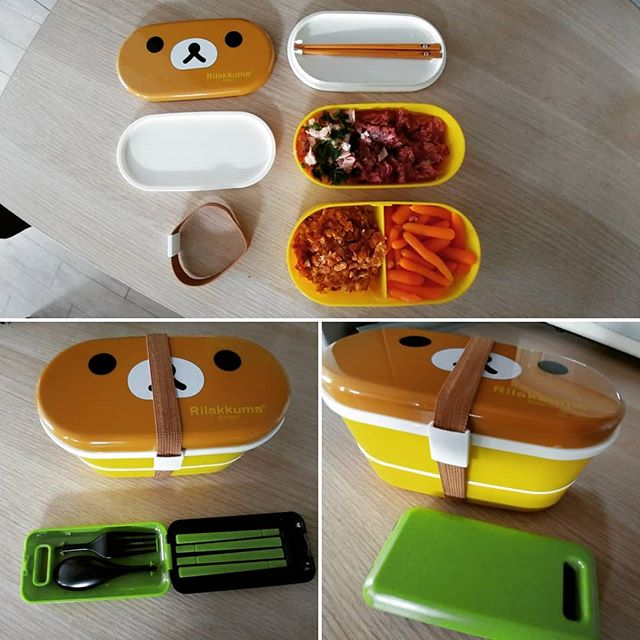 Oggi, dopo il turno come volontaria Abio in pediatria, una cenetta fast&easy nel bentobox! #pretaporter #cena #dinner #bento #bentobox #rilakkuma #japan #reparto #pediatria #abio #dukan #diet #dieta #stiledivita #weightloss #highprotein #lowcarb #lowfat #fitness #fitfood #lightfood #cucinaproteica #cucinadulight