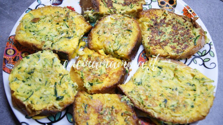 Pane nell'uovo con zucchine