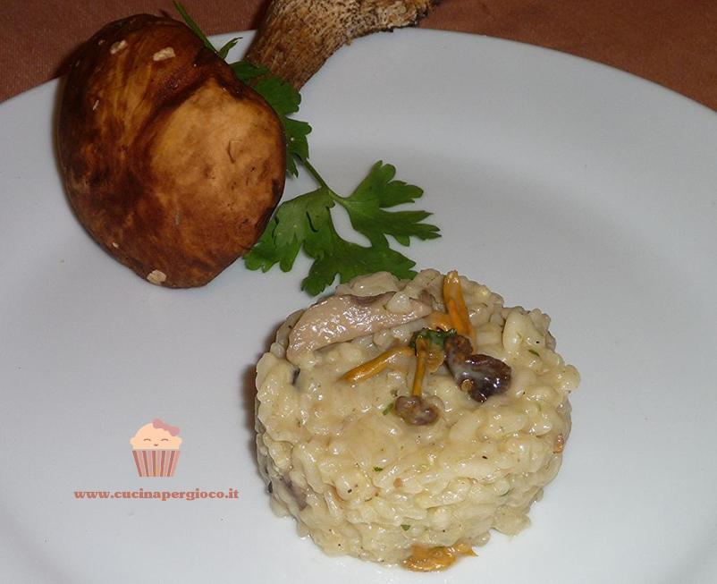 cucinapergioco risotto di funghi misti