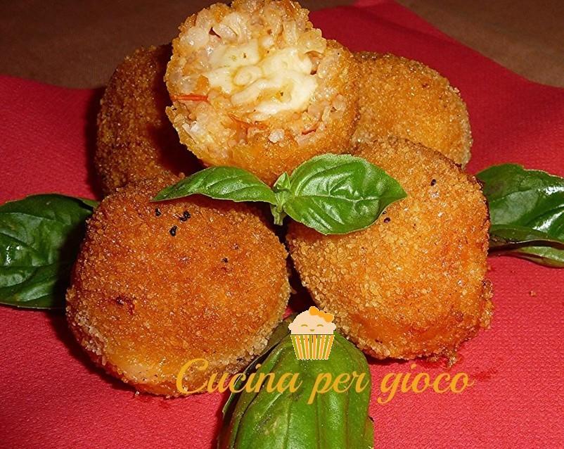 cucinapergioco polpettine di riso con pomodorini e galbanino