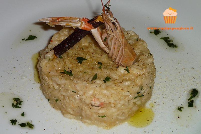 cucinapergioco risotto scampi e liquirizia