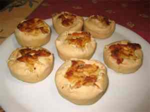 Tortini ripieni di patate, fontina e mortadella