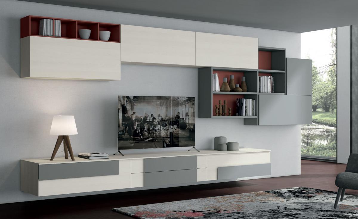 Tavolini, pareti attrezzate su misura, madie moderne, retrodivani e mobili porta tv in diversi stili. Modern Style Cucine Lube