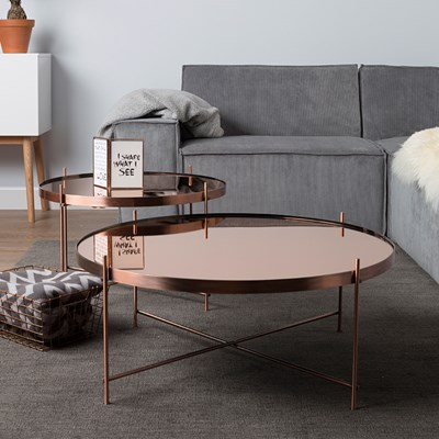 zuiver cupid coffee table in copper