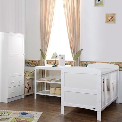 obaby grace cot bed 3 nursery furniture set obaby on 3 Piece Nursery Set id=48070
