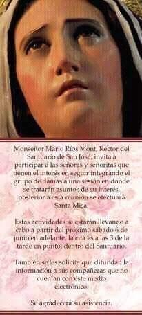 Invitación para ingresar a la Asociación de Jesús de los Milagros y Virgen de Dolores de San José que circula en las redes sociales