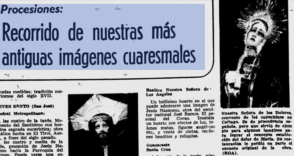 Diario La Nacion 7 de abril 1974 (solo con fines de ilustración)