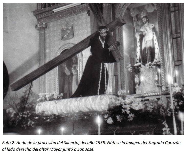 En el terremoto 1976 se nota al Sagrado Corazón de Jesús con San José