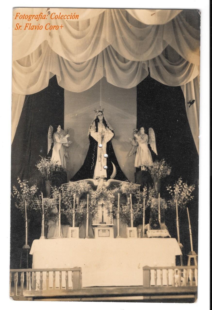 Altar de Velación en el altar mayor del antiguo oratorio de la finca – ingenio Concepción