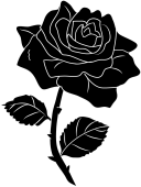 Vector-Black-And-White-Rose-PNG-Free-Picture