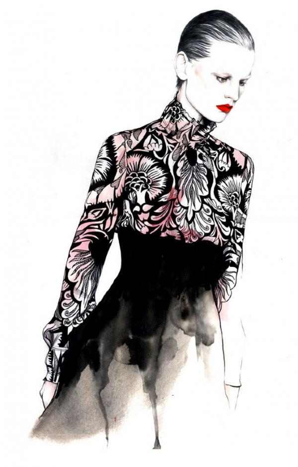 50 Beautiful Fashion Illustrations   Art and Design Fashion Illustration by Caroline Andrieu   50 Beautiful Fashion  Illustrations  3  3
