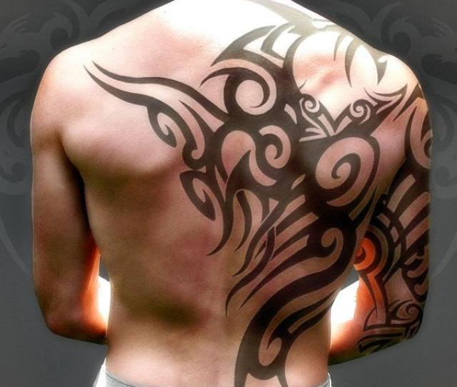 Tribal Tattoo On Back  Awesome Back Tattoo Ideas