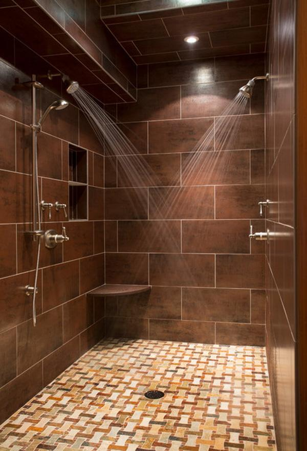A shower for two, a bathroom for everyone.