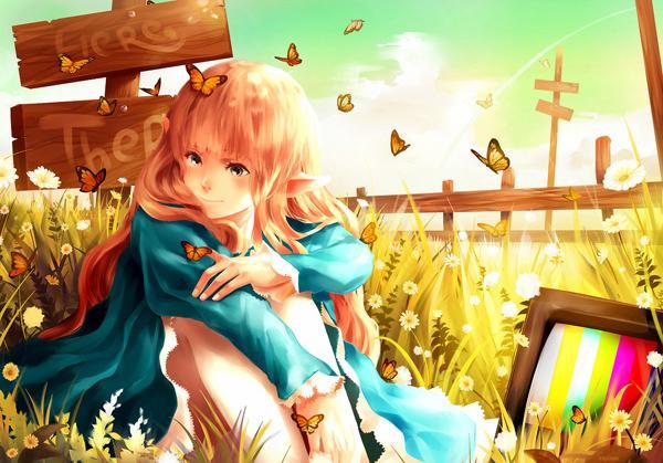 A Flock of Butterflies - 50 Examples of Anime Digital Art <3 !