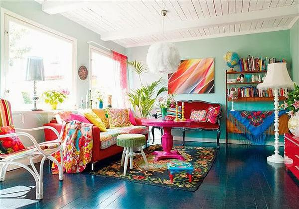Just an example of how vibrant a living room can be.