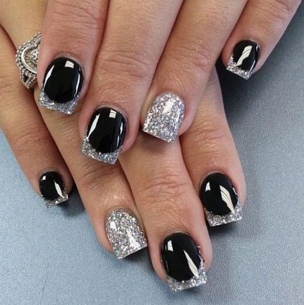Black White Grid Nail Art Design Polish Designs