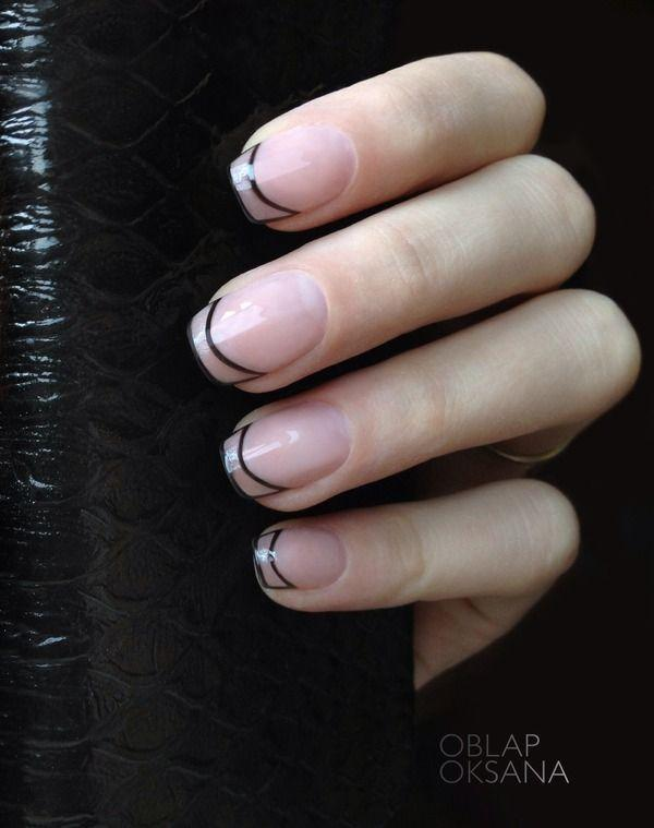Trendy Tips This French Manicure Has A Clear Nail Polish As Base And Played