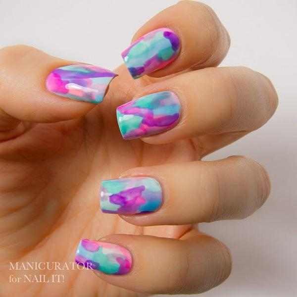 Nail Art Tutorial Water Marble Decals