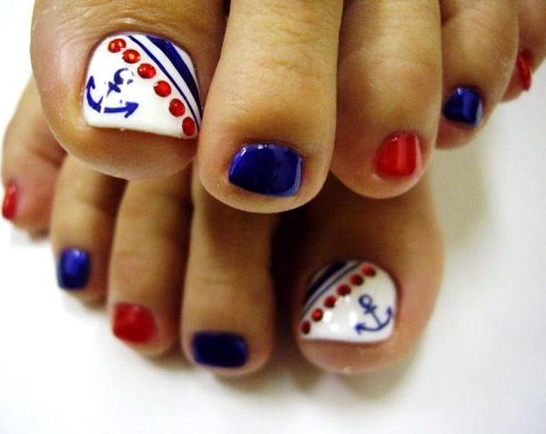Anchor Inspired Toenail Art Design Have Fun While Recreating An On Your Toenails