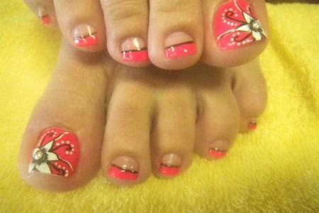 French Tips Nails And Toes Path Decorations Pictures Full Path