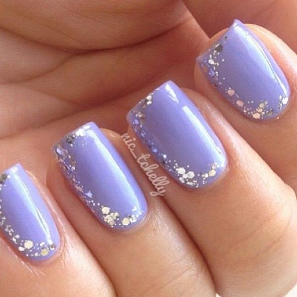 Nail Art Photos Nails Polish Blue Silver