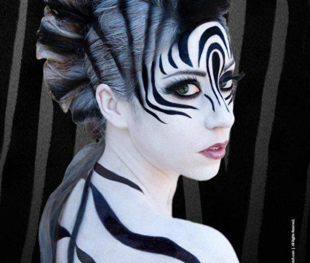 Zebra Inspired Halloween Makeup Tuning Your Inner Animal Instincts Cover Your Entire Body In