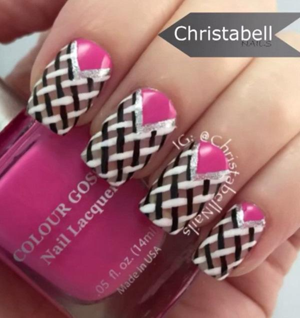 Pretty Intricate Looking But Easy To Paint On Winter Nail Art