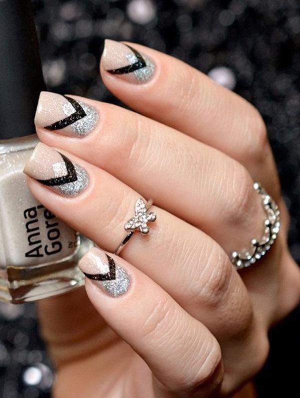 Prev Next Best Nail Art Black White Paint