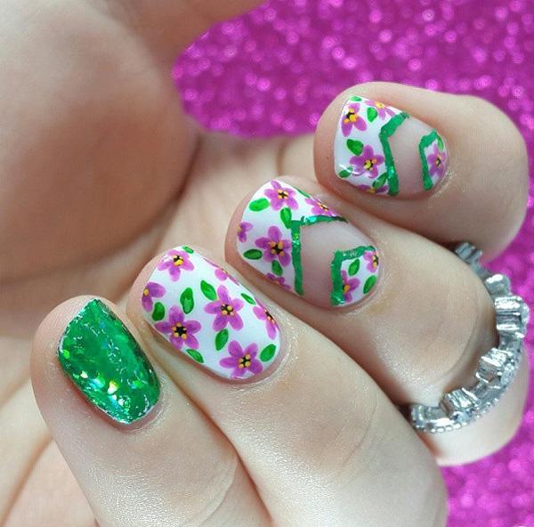 Green Nail 45 Refreshing Art Ideas